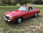 1987 Red Mercedes 560 SL Hard Top Convertible!!!  Automatic, gas, V8, odometer shows 62,533 (WDBBA48D7HA072953)