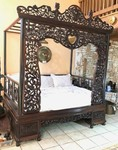 Antique Highly Carved Chinese Wedding Canopy Bed