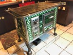 Antique Coal Stove, Green Tile