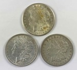 Morgan Silver Dollars (3) : 1887, 1921-S, 1921-D