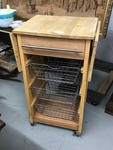 Rolling Kitchen Prep Cart