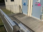 Redd Team Universal Aluminum Access Ramp and landing with rails.