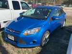Storage Lien: Tow Away: 2014 Blue Ford Focus (salvage) (1FADP3F29EL440382) (no key)