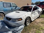 Storage Lien: Wrecked:  2001 White Ford Mustang (1FAFP40441F203574)