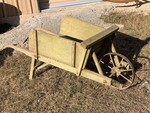 Antique Green Wheelbarrow  with removeable sides