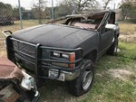 Storage Lien: Wrecked: Black 1989 GMC 4x4 Pickup (1GTDK14K1KZ516119)