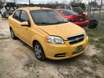 Storage Lien:  Tow Away: Yellow 2009 Chevrolet Aveo (KL1TD56E79B656531)  (Odometer 37362)