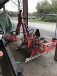 Rhino Servis 1348 side-mount boom mower with Model 37 Cutter and Side Weights