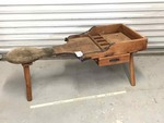 Antique Cobbler's Bench with Drawer