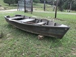 Vintage Cypress Wood Duck Boat!!!  15 ft. 4 in. X 62 in, includes two oars.