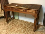 Upstairs: Llano National Bank Check Writing Station, Antique Oak & Poplar (*Note)