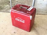 Front Room: Vintage Drink Coca Cola Red Metal Insulated Cooler