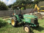 John Deere 870 Diesel Tractor with 513 Shredder