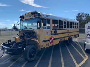 School Bus Body and chassis only.  No engine.  Does have wheel chair lift.