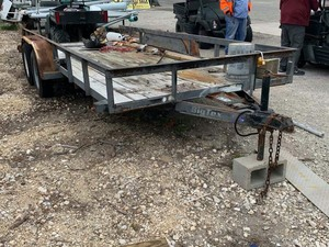 Surplus 2006 BIG T Utility Trailer, tandem, rust, 16 ft x 77 in.  (VIN:  16VNX162162C36046)