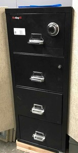 Fire King Fire File Case, Legal Size 4 drawer with combination.  VERY HEAVY!  * Forklift available to assist with loading