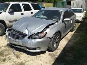 Wreck:  2012 Chrysler 200, silver, odometer shows 125653, airbags deployed  (VIN:  1C3CCBBB3CN134561)