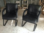 (2) Arm Chairs (black)