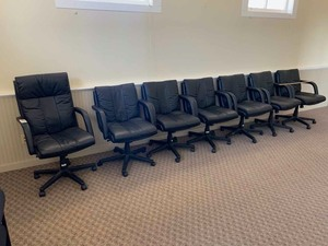 7 Conference/Board Room chairs on casters (black)