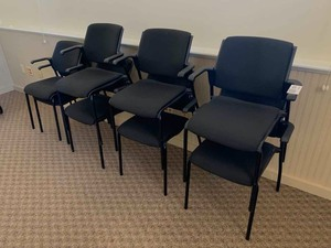 8 reception chairs (black) (one bid for all eight)