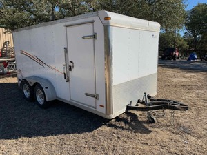 Cargo Trailer (477UB14224X029322)* ** MISSING HITCH!!!  You will need to weld on a new one to remove it or call a tow truck